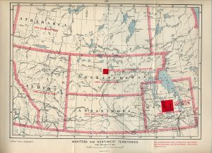 1900 Map of Manitoba and the North-West Territories