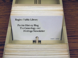 RPL, Regina Public Library, Card Catalog, Library Card Catalog