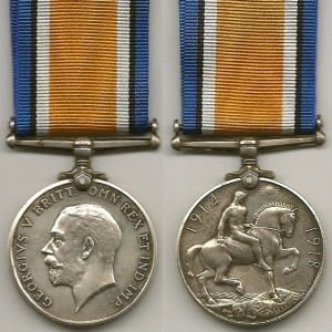 The British War Medal World War I.
