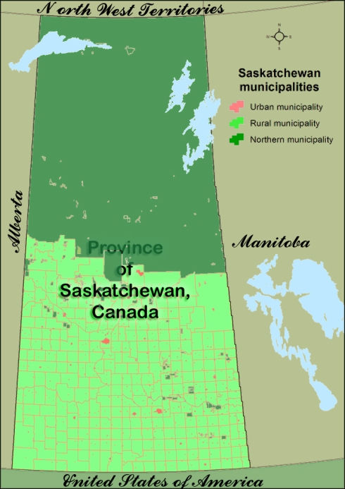 Province of Saskatchewan, Canada map Author Hwy43 Creative Commons Attribution 3.0