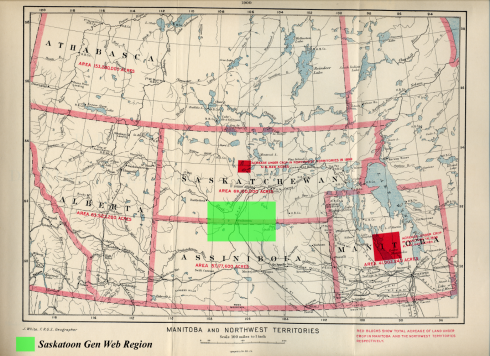 Saskatoon Gen Web Map Northwest Territories 1900